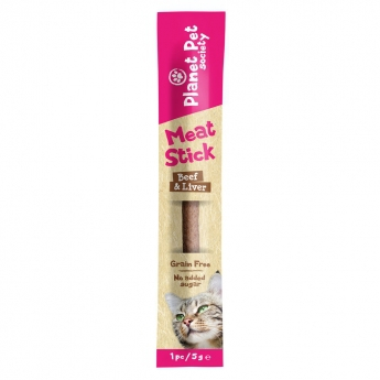 Planet Pet Meat stick, beef-liver, 1 pc, 5 g**