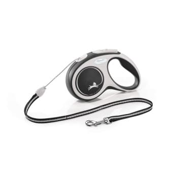Flexi New Comfort Cord Small 5 med lina/12 kg (Svart)