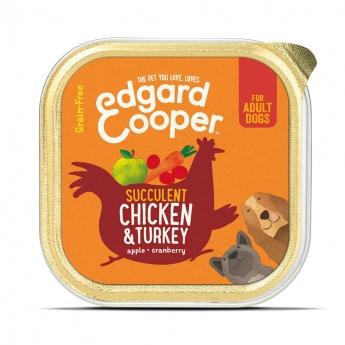 Edgard & Cooper Dog Kyckling & Kalkon (150 gram)**
