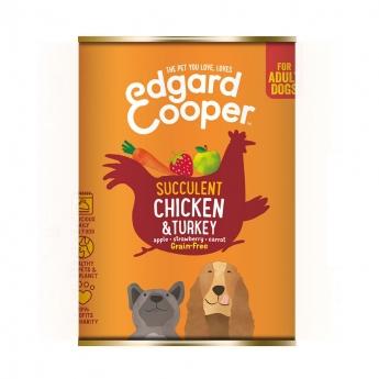 Edgard & Cooper Dog Kyckling & Kalkon (400 gram)