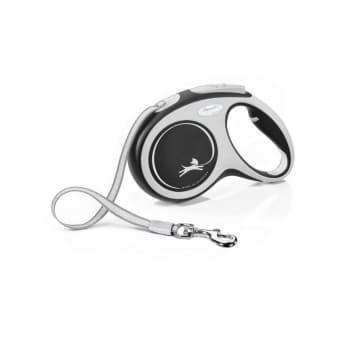 Flexi New Comfort Tape Medium 5 m band/25 kg (Svart)