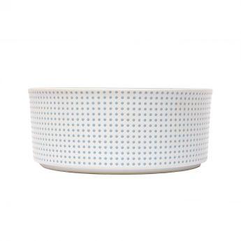 PetRageous Dots Keramikskål Vit/Turkos