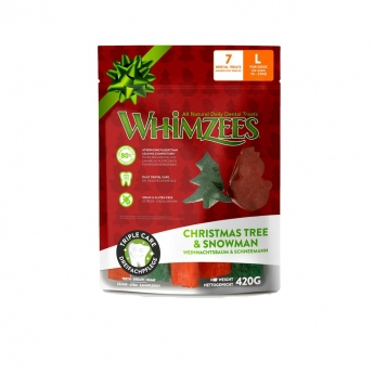 Whimzees Snowman & Tree L 7-pack