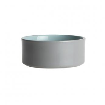 PetRageous Designs Plain keramiskskål grå/grön