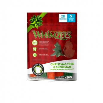 Whimzees Snowman & Tree S 28-pack