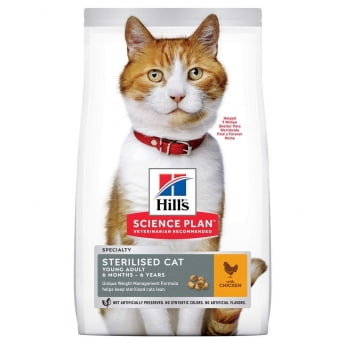 Hill's Science Plan Cat Young Adult Sterlised Chicken