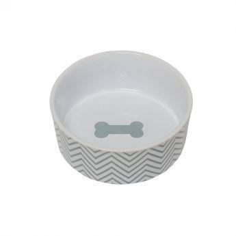 PetRageous Chevron Keramikskål Turkos