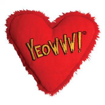 Yeowww! Heart pillow