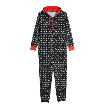 Little & Bigger Xmas Jumpsuit Svart