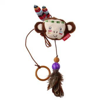 GiGwi HappyIndians Fingerleksak Apa (Mångfärgad)**