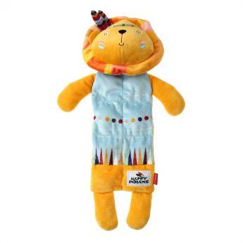 GiGwi Happy Indians Multisqueaker Lejon (Gul)**