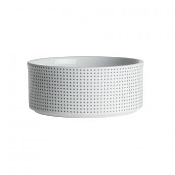PetRageous Designs Dots keramiskskål vit/grå