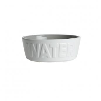 PetRageous Designs WATER Keramikskål Vit/Grå