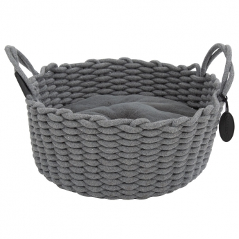 Scruffs Haven Rope Bed Grey 45cm