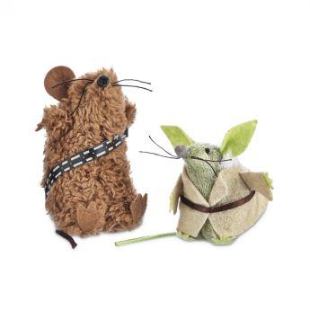 Star Wars Yoda/Chewbacca Kattleksak (Mångfärgad)**