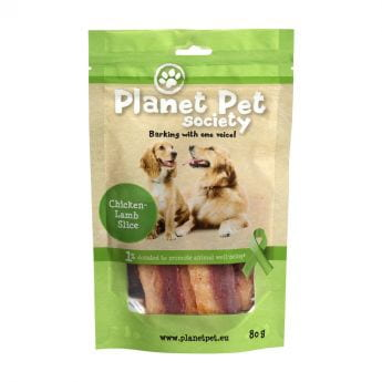 Planet Pet Society Chicken Lamb Slices (80 gram)**