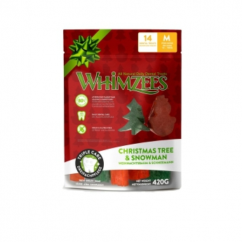 Whimzees Snowman & Tree M 14-pack