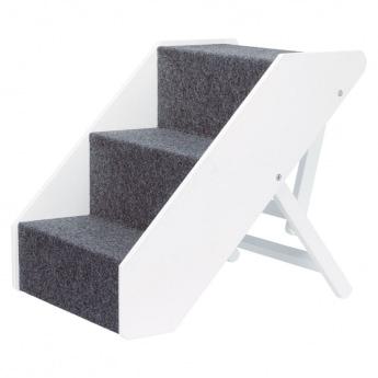 Trixie justerbar trappa vit/grå
