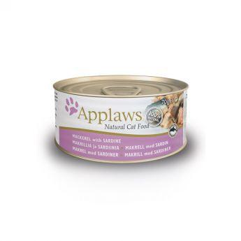 Applaws Cat Makrill & Sardiner (70 gram)**
