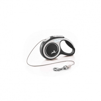 Flexi New Comfort Cord X-Small 3 med lina/8 kg (Svart)