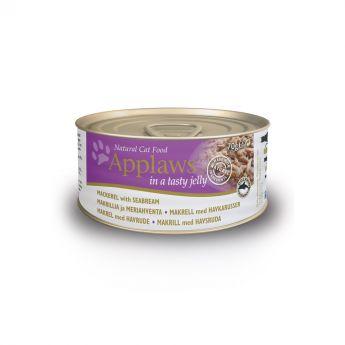 Applaws Cat Makrill & Havsabborre i Gelé (70 gram)**
