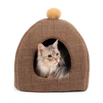Basic Tweedy Katt Igloo Brun