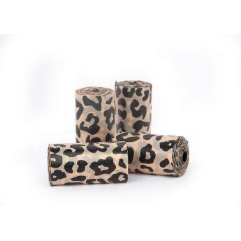 Little & Bigger Nedbrytbara Bajspåsar 4x20 st Leopard