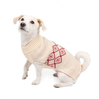 Basic Highland Hundtröja Vit/Röd