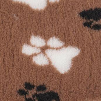 Little&Bigger CosyPet Non-Slip fäll tass brun