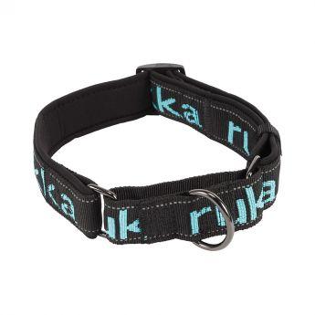 Rukka Solid Web Halsband Svart/Turkos