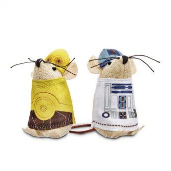 Star Wars C-3PO/R2-D2 Kattleksak (Mångfärgad)