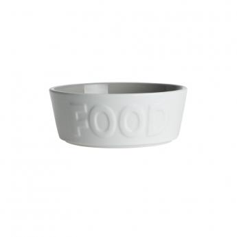 PetRageous Designs FOOD Keramikskål Vit/Grå