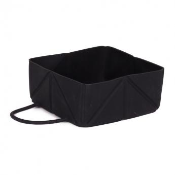 Little & Bigger Fold Silikonskål Black**