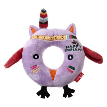 GiGwi Happy Indians Ring Uggla (Lila)