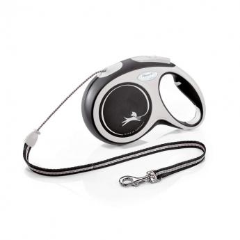Flexi New Comfort Cord Medium 8 med lina/20 kg (Svart)