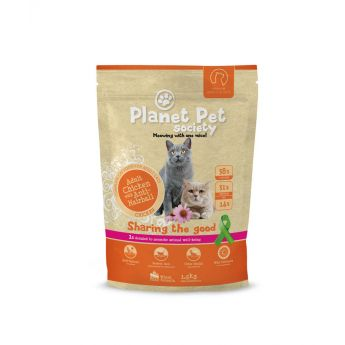 Planet Pet Society Cat Adult Chicken & Anti Hairball**