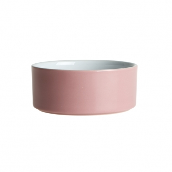 PetRageous Designs Plain Keramiskskål Rosa/Vit