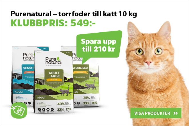 Klubbpris - Purenatural kattmat 10 kg nu 549 kr