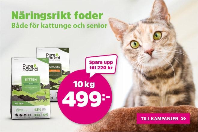 Purenatural kattmat 10 kf för endast 499 kr