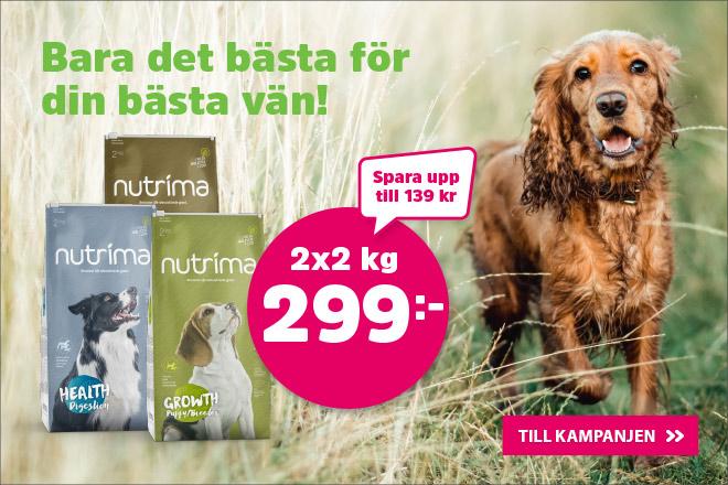 Nutrima Hundmat 2 kg 2 för 299 kr