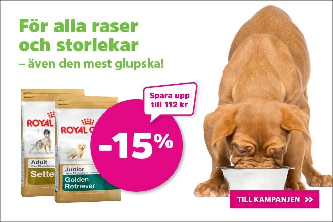 15% på Royal Canin Breed