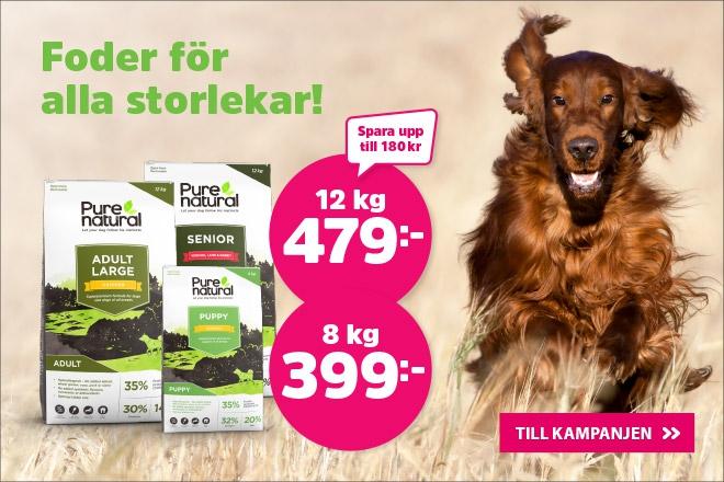 Purenatural Size Hundmat 8 kg nu 399 kr, 12 kg nu 479 kr