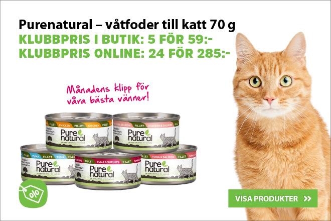 Klubbpris - Purenatural våtfoder till katt 70 g 24 för 285 kr