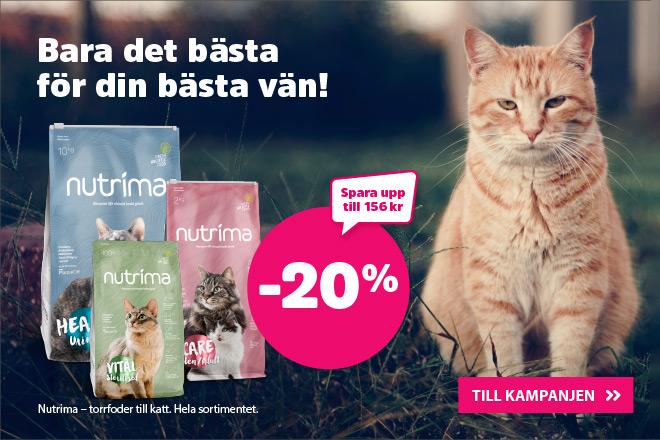 20% på Nutrima kattmat