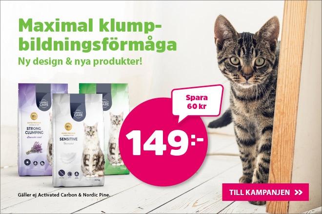 Supererbjudande - Compact Care kattsand 10 kg nu 149 kr