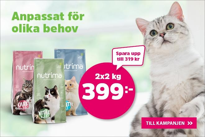 Nutrima kattmat 2 kg nu 2 för 399 kr!