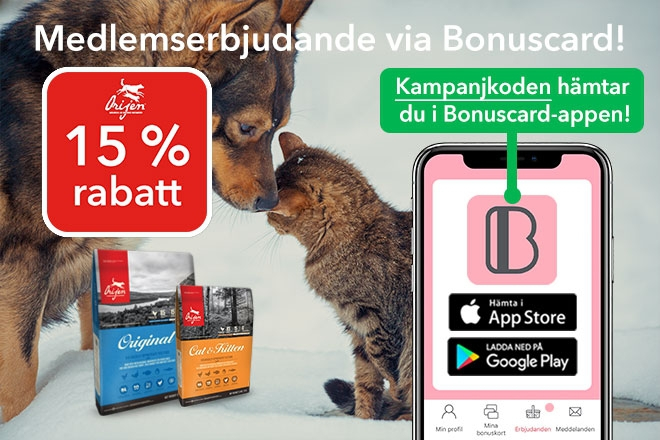 Erbjudande på Orijen med Bonuscard
