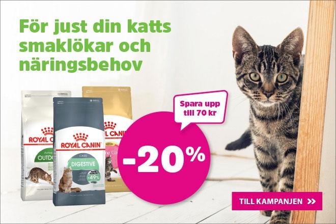 20% på Royal Canin kattmat 2 kg