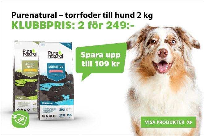 Purenatural hundmat 2 kg 2 för 249 kr