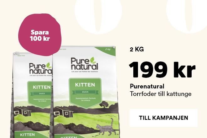 Purenatural kitten 2 kg nu 199 kr